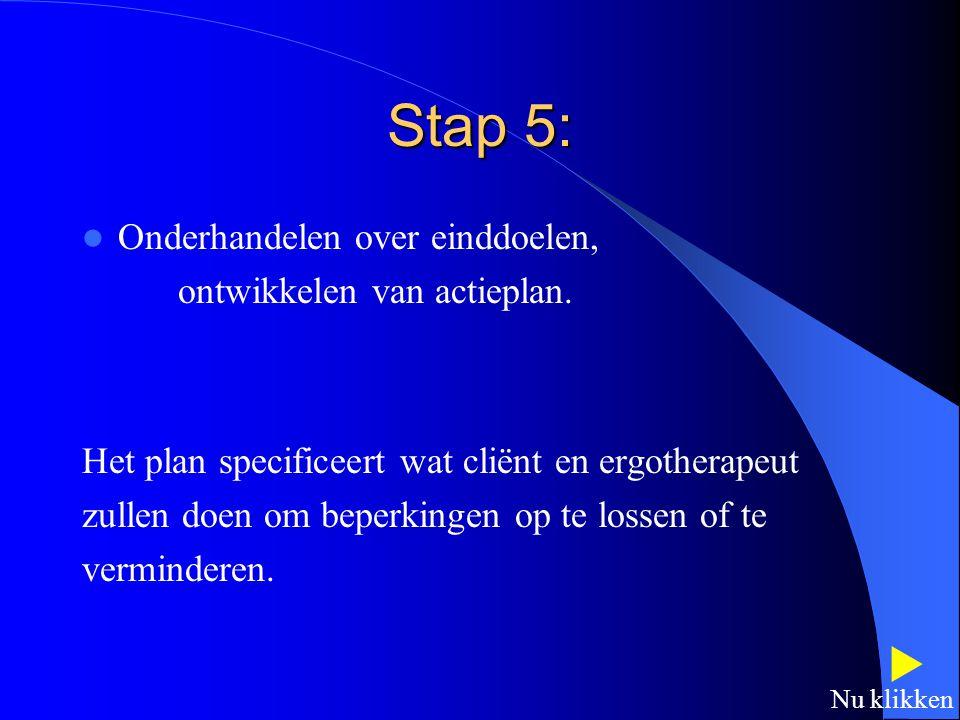 Stap 4: Inventariseren van sterke punten en hulpbronnen. Welke men in het proces zal gebruiken.  Nu klikken