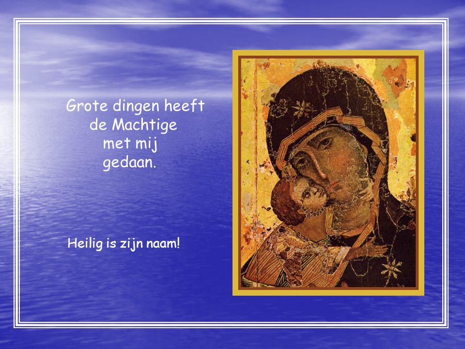 Teksten: Willibrordvertaling 1995 uit Lucas evangelie Hfdst I: 46-55 Afbeeldingen: IKONEN W.P.