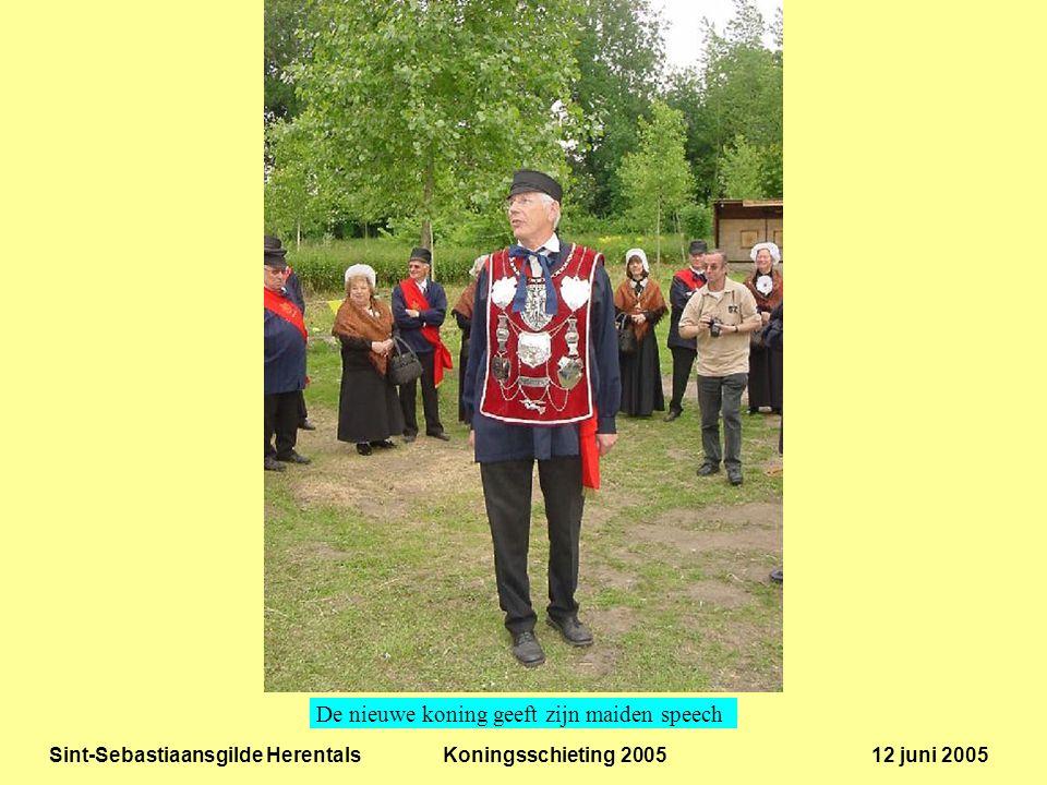 Sint-Sebastiaansgilde Herentals Koningsschieting 2005 12 juni 2005 De nieuwe koning geeft zijn maiden speech