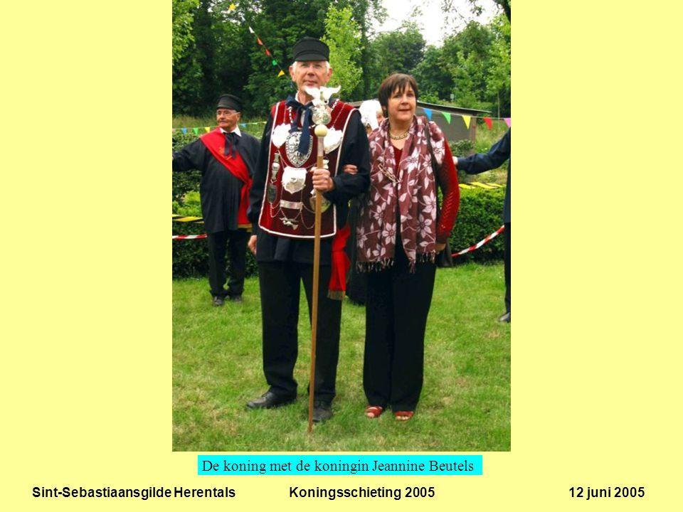Sint-Sebastiaansgilde Herentals Koningsschieting 2005 12 juni 2005 De koning met de koningin Jeannine Beutels