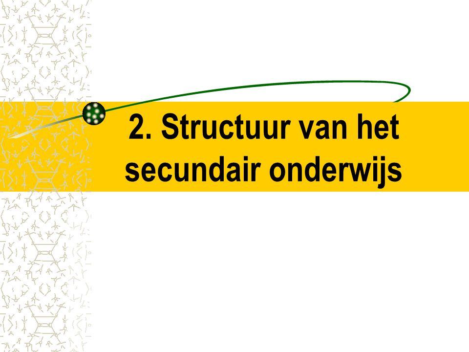 2. Structuur van het secundair onderwijs
