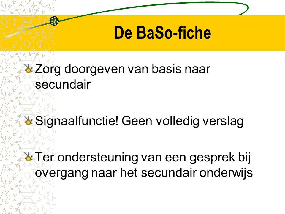 De BaSo-fiche Zorg doorgeven van basis naar secundair Signaalfunctie.