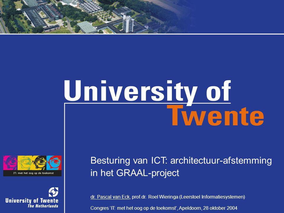 1/34 Besturing van ICT: architectuur-afstemming in het GRAAL-project dr. Pascal van Eck, prof.dr. Roel Wieringa (Leerstoel Informatiesystemen) Congres