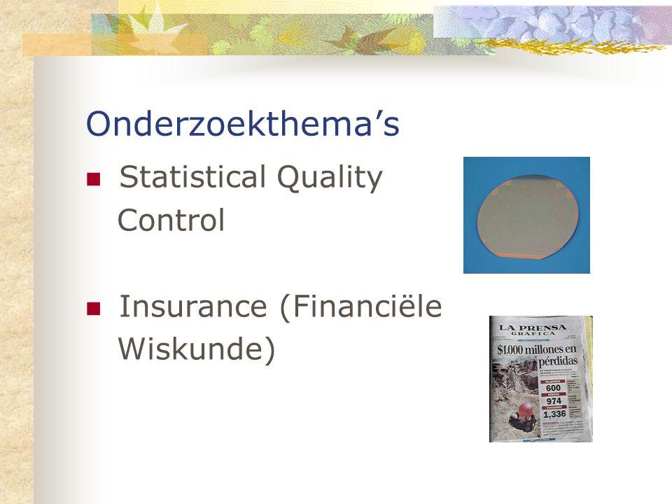 Onderzoekthema's Statistical Quality Control Insurance (Financiële Wiskunde)