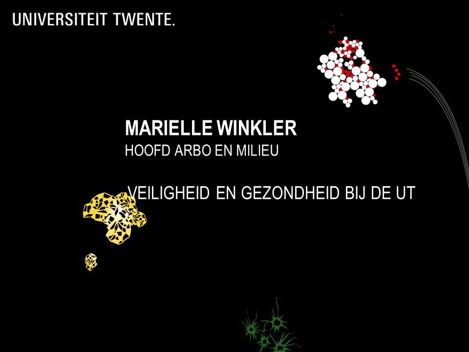 1 VEILIGHEID EN GEZONDHEID BIJ DE UT MARIELLE WINKLER HOOFD ARBO EN MILIEU