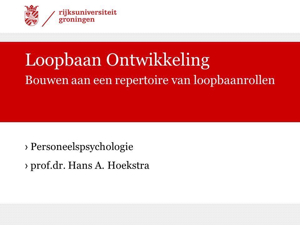 › Personeelspsychologie › prof.dr. Hans A.