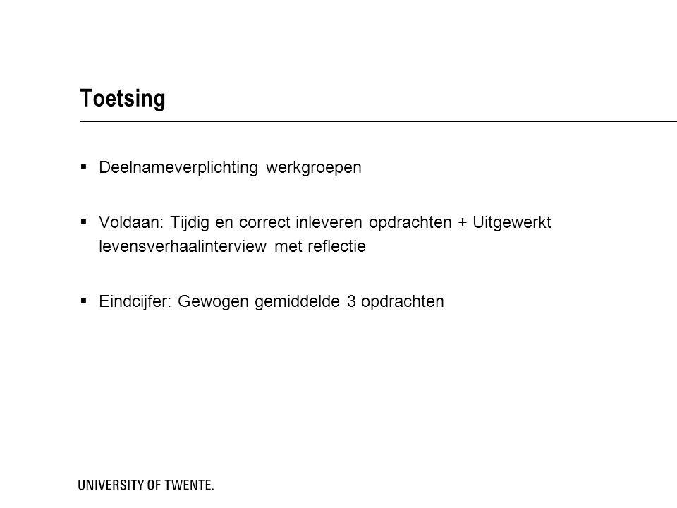 B2 Verdiepingsvakken  Onbewuste processen en gezondheidsgedrag (GP) Marcel Pieterse  Verdieping Human Factors (HFM) Matthijs Noordzij  Leren bij kinderen en adolescenten (ILO) Hannie Gijlers  Psychologie, technologie en veiligheid (CRV) Peter de Vries  Narratieve psychologie (GG) Anneke Sools  Keuze: 2 van de 5 verdiepingsvakken  Inschrijven: uiterlijk 11 april 2014  Vragen.