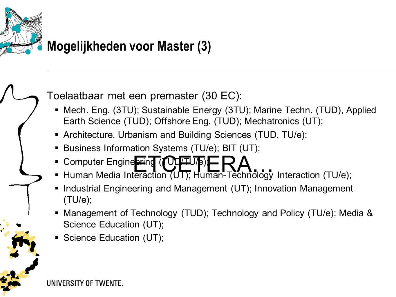 Vragen.(2) 4.Kan ik mastervakken volgen bij een andere universiteit.