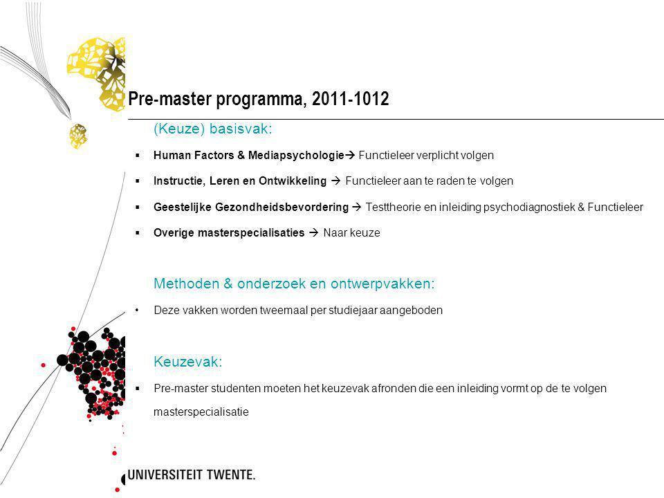Informatievoorziening vanuit de opleiding  E-mail (studentenmail!) @student.utwente.nl Website Psychologie www.utwente.nl/psywww.utwente.nl/psy Onderwijsmededelingen: blackboard, prikbord kantine & studentportal Studiegids Let op: op www.utwente.nl/psy: - deze presentatie &www.utwente.nl/psy - presentatie uitleg onderwijssystemen (!)