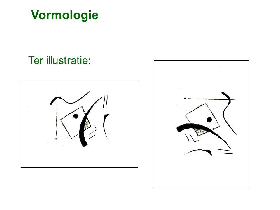 Ter illustratie: Vormologie