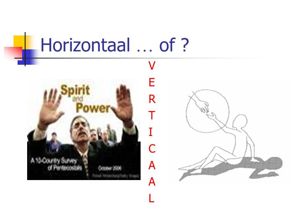 Horizontaal … of ? VERTICAALVERTICAAL