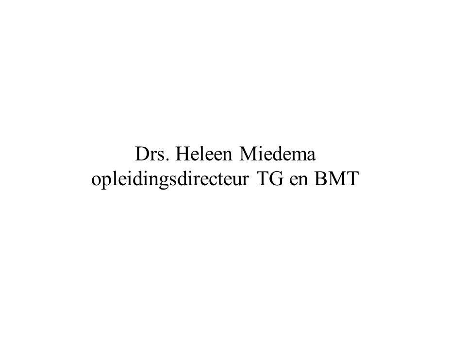 Inhoud TG Geneeskunde Technologie Technische geneeskunde