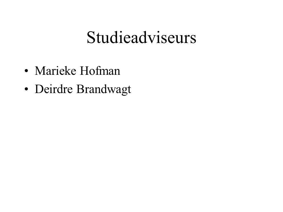 Studieadviseurs Marieke Hofman Deirdre Brandwagt