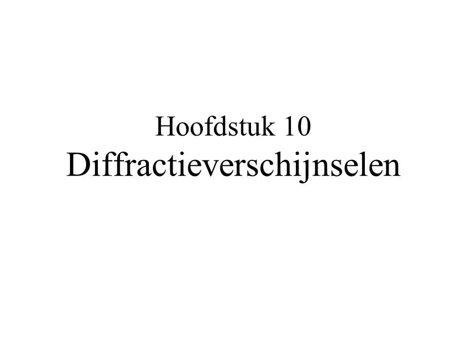 Hoofdstuk 10 Diffractieverschijnselen