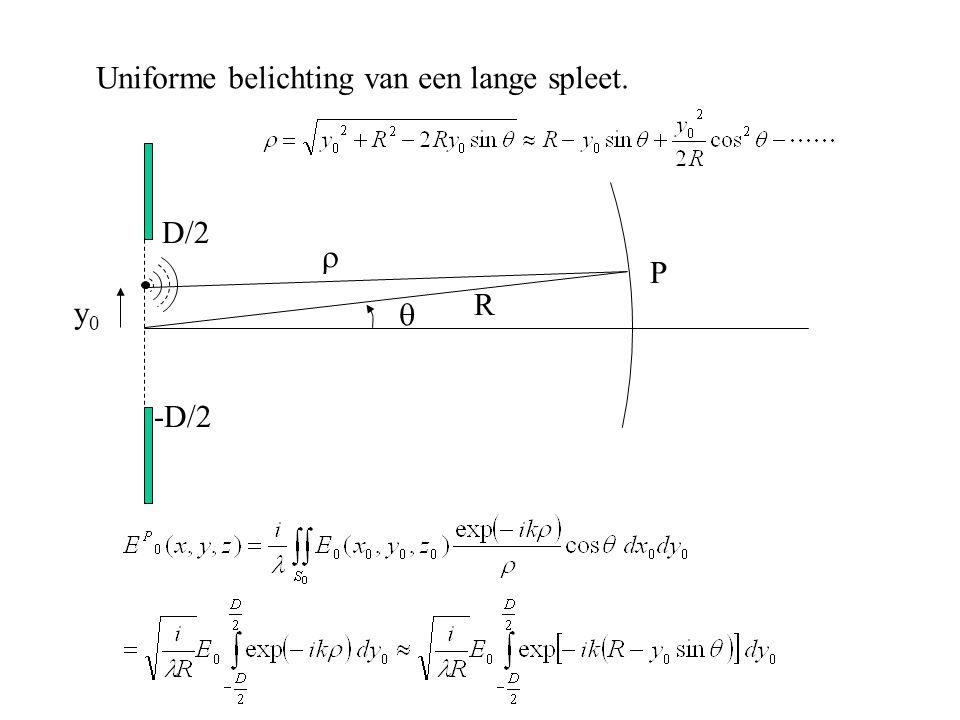 D D Scheidend vermogen (resolutie) van een afbeeldend systeem Hoe klein kunnen we  maken.