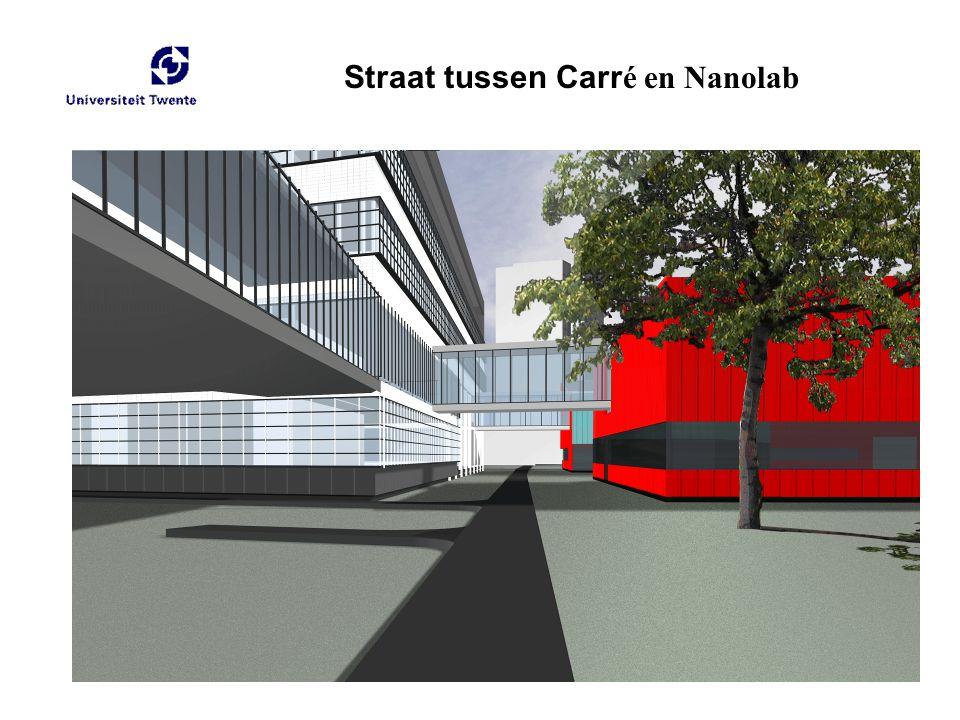 Straat tussen Carr é en Nanolab