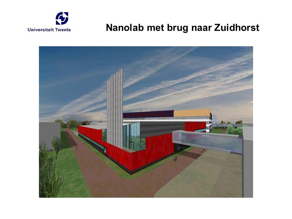 Nanolab met brug naar Zuidhorst