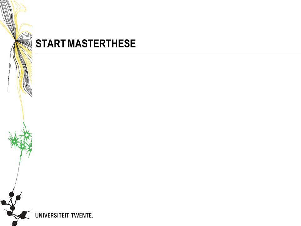 START MASTERTHESE