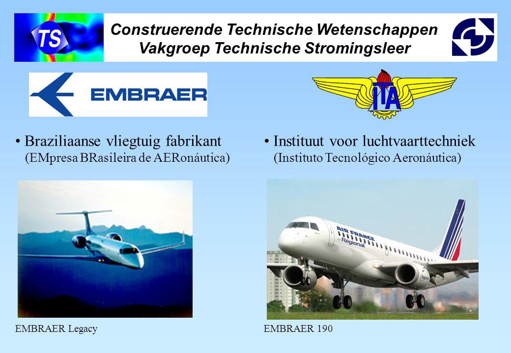 Construerende Technische Wetenschappen Vakgroep Technische Stromingsleer Braziliaanse vliegtuig fabrikant (EMpresa BRasileira de AERonáutica) EMBRAER