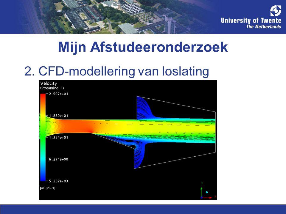 Mijn Afstudeeronderzoek 2. CFD-modellering van loslating