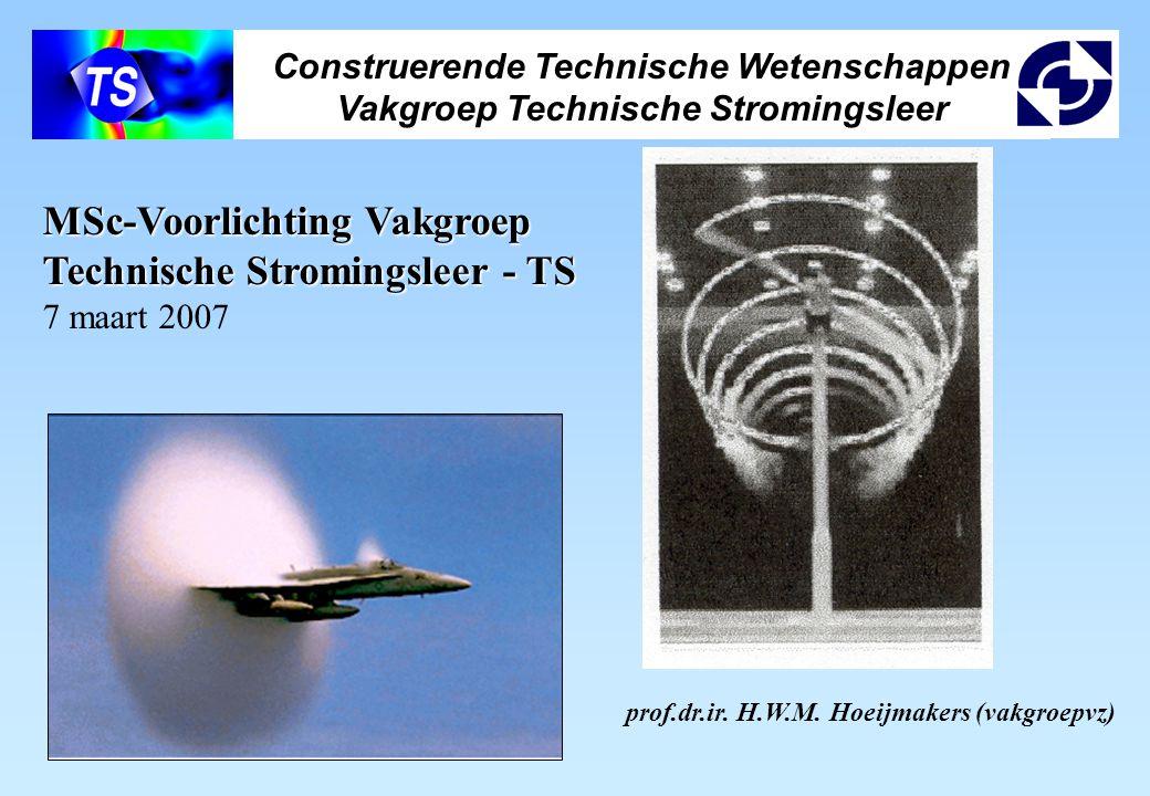 Construerende Technische Wetenschappen Vakgroep Technische Stromingsleer prof.dr.ir. H.W.M. Hoeijmakers (vakgroepvz) MSc-Voorlichting Vakgroep Technis