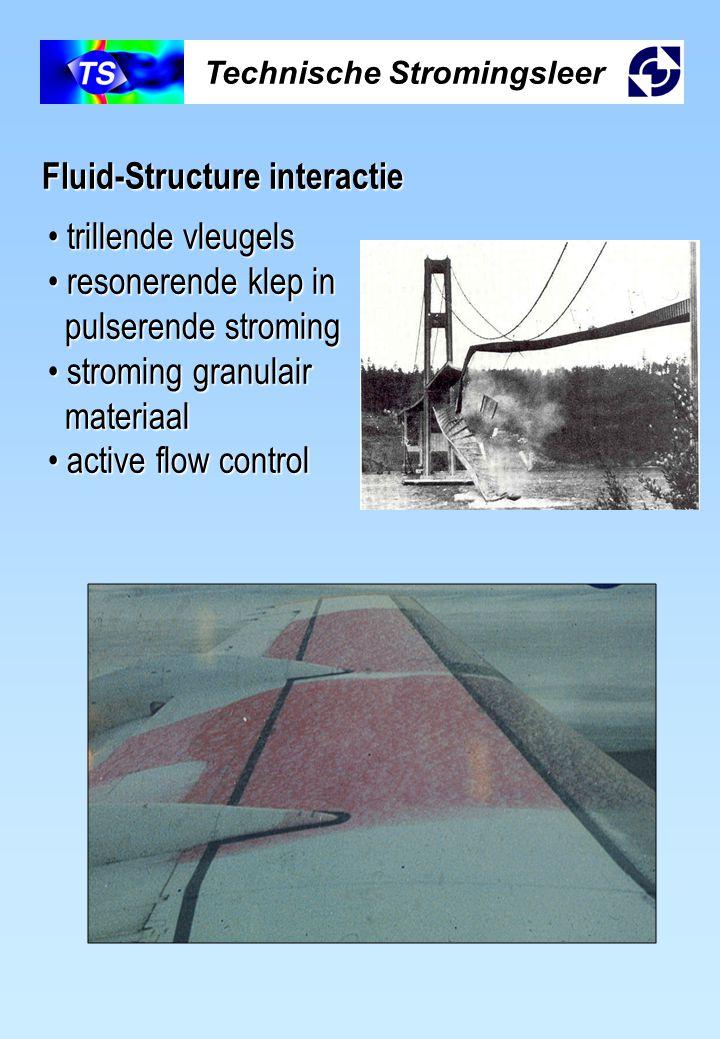 Technische Stromingsleer Fluid-Structure interactie trillende vleugels trillende vleugels resonerende klep in resonerende klep in pulserende stroming
