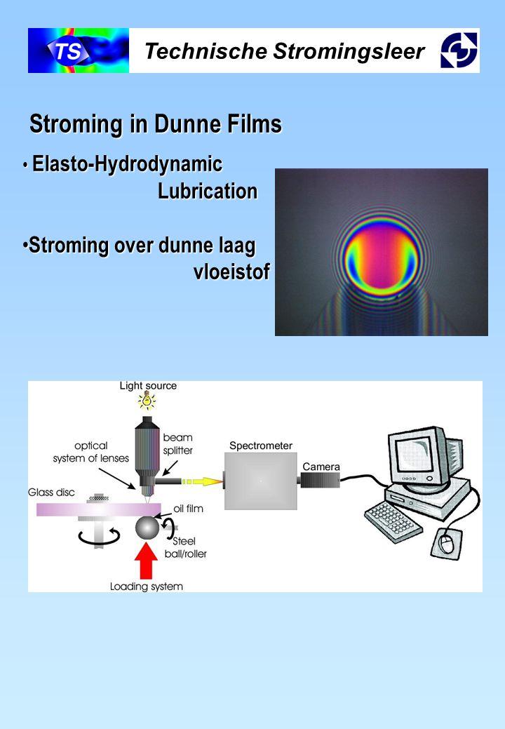 Technische Stromingsleer Stroming in Dunne Films Elasto-Hydrodynamic Elasto-Hydrodynamic Lubrication Lubrication Stroming over dunne laag Stroming ove