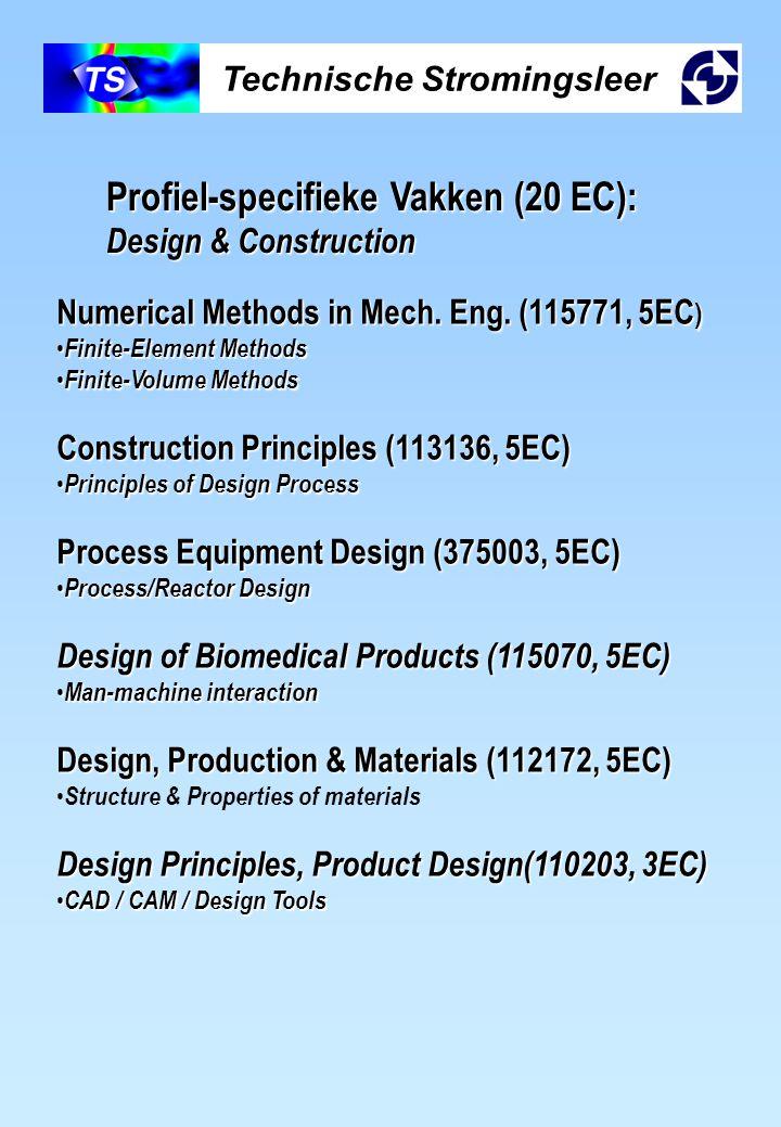 Technische Stromingsleer Profiel-specifieke Vakken (20 EC): Design & Construction Numerical Methods in Mech. Eng. (115771, 5EC ) Finite-Element Method