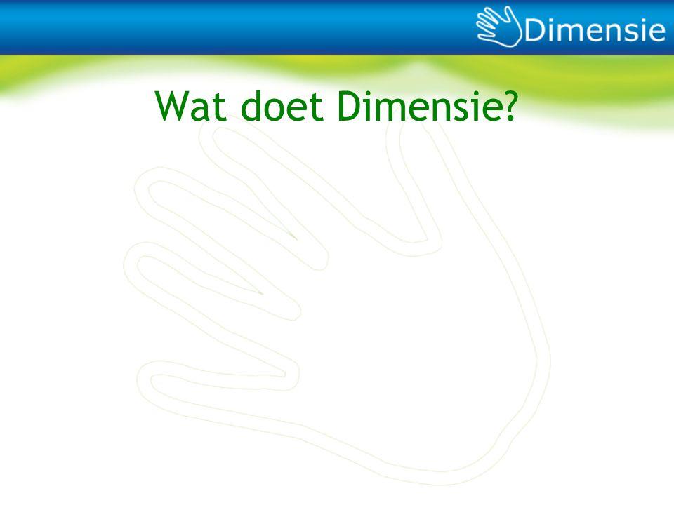 Wat doet Dimensie?