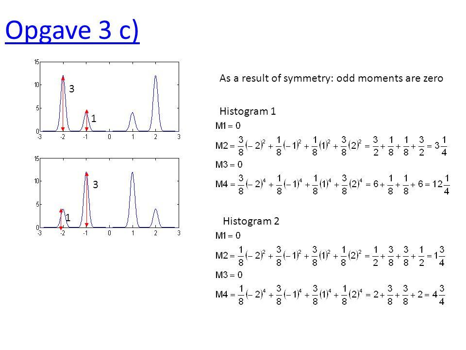 Opgave 4 a) b) Periodiciteit 40 Ruis, geen correlatie a) S/N = 2/(6-2) = 1/2 S/N = 0.4/(1.6-0.4) = 1/3 b) autocorrelatie