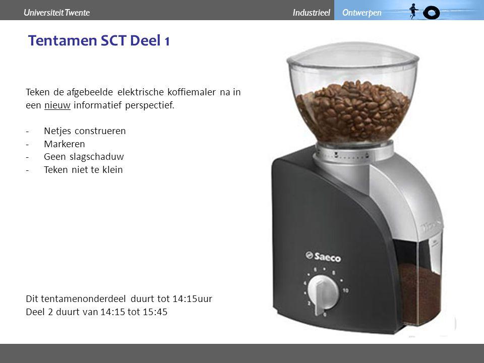 Industrieel OntwerpenUniversiteit Twente Ontwerp een elektrische koffiemolen door een aantal schetsjes te maken.