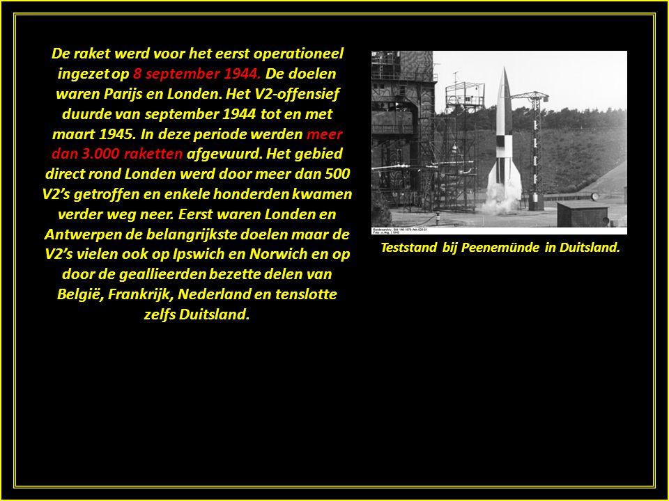 De raket werd voor het eerst operationeel ingezet op 8 september 1944.