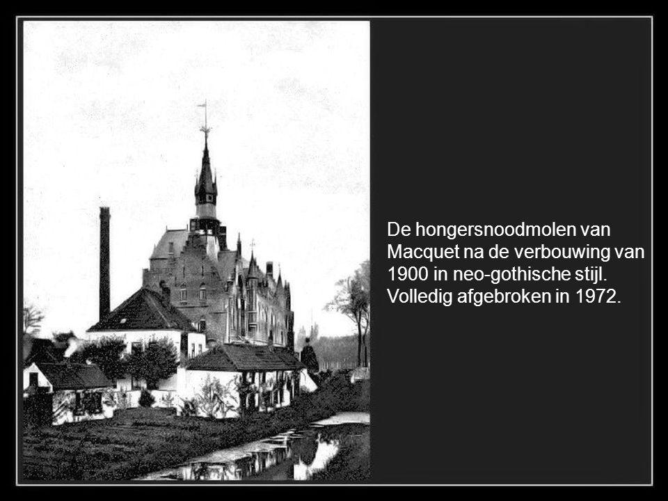 De Katelijnepoort 1901, met aanlegplaats van de Barge voor Gent.