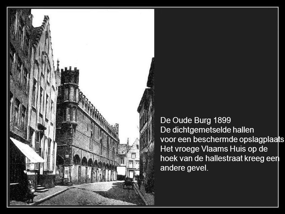 Gouvernementsgebouw 18e eeuw; foto 1903, ernaast café Foy en de zaak Van Nieuwenhuyse gesloopt in 1908