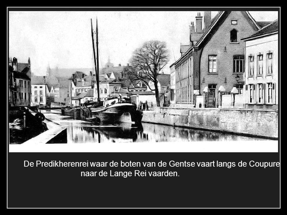 De Groene Rei in 1870, foutief genoemd op de kaart. Destijds vaarde de schepen nog tot aan de Peerdenbrug..