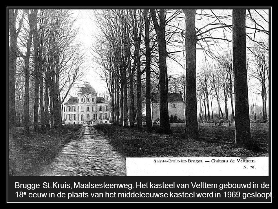 Brugge-St. Kruis, De Maalse steenweg. In vooroorlogse tijden.