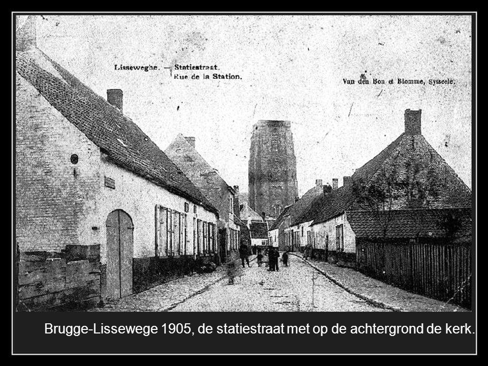 Brugge-Dudzele, Kerkstraat, rechts vooraan de Herberg Den Anker