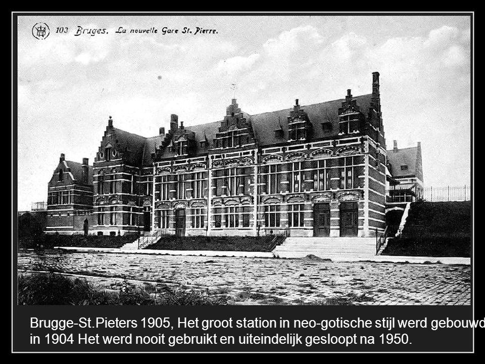 Brugge-St.Pieters, nu Keizer Karelstraat, Villa Isola Bella (gekend als kasteel van de Brouwer), het werd gesloopt in 1969.