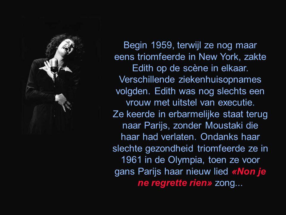 In 1956 scheidde ze van Jacques Pills. Een zekere Georges Moustaki werd haar minnaar en debuteerde als zanger. Samen kregen ze in 1958 een auto-ongelu