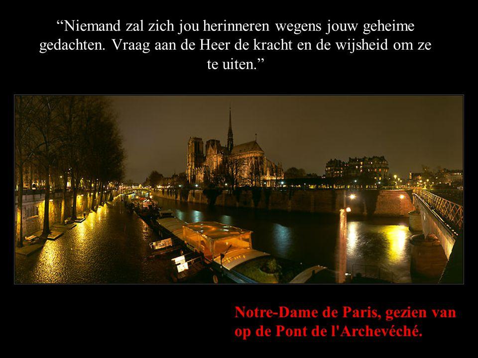 """Het Ile de la Cité en de Notre-Dame de Paris, gezien vanuit de haven van het stadhuis. """"Hou je geliefden dicht bij jou. Fluister ze in hun oor dat je"""