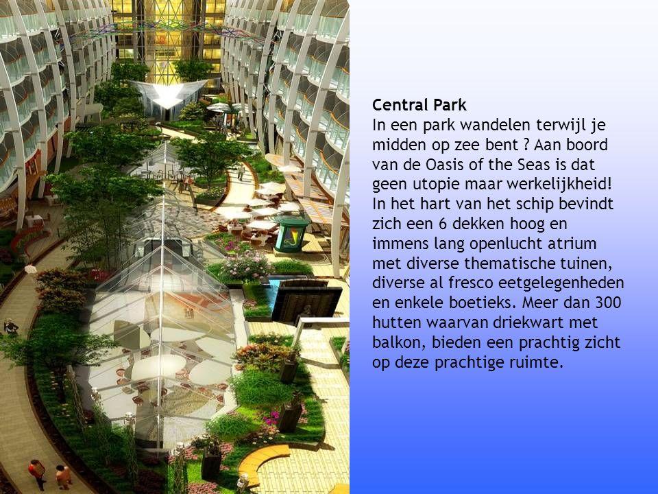 Central Park In een park wandelen terwijl je midden op zee bent ? Aan boord van de Oasis of the Seas is dat geen utopie maar werkelijkheid! In het har