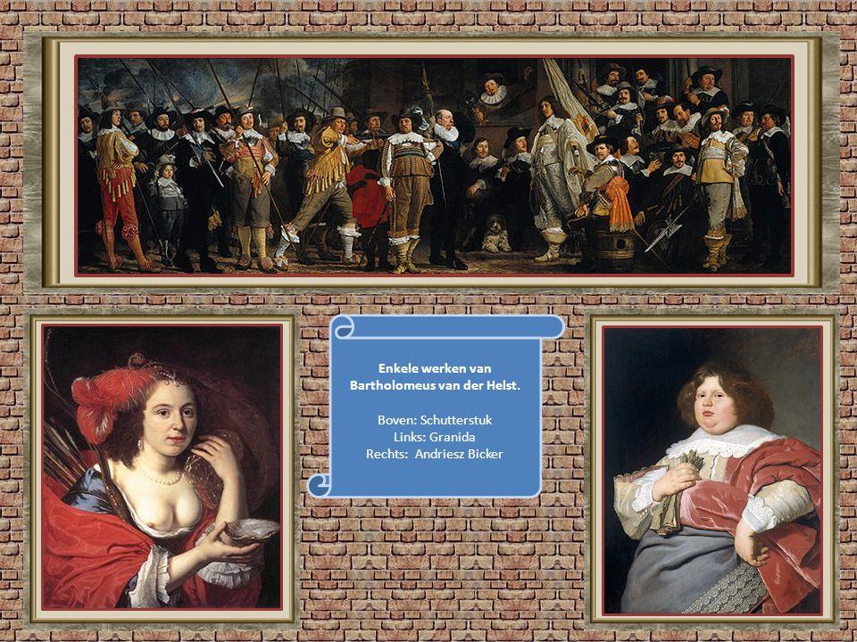 Bartholomeus van der Helst (1613 – 1670) was evenals Frans Hals en Rembrandt een leerling van Nicolas Pickenoy. Het schilderij SCHUTTERSMAALTIJD gesch