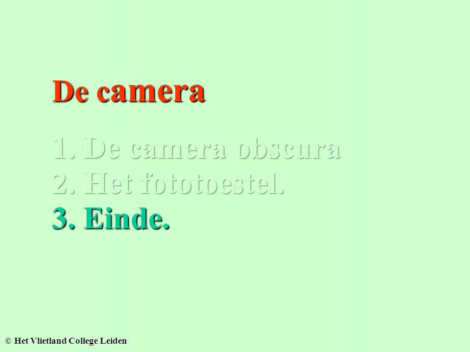 De camera obscura, geen lens... De camera, met lens... Onscherp Scherp