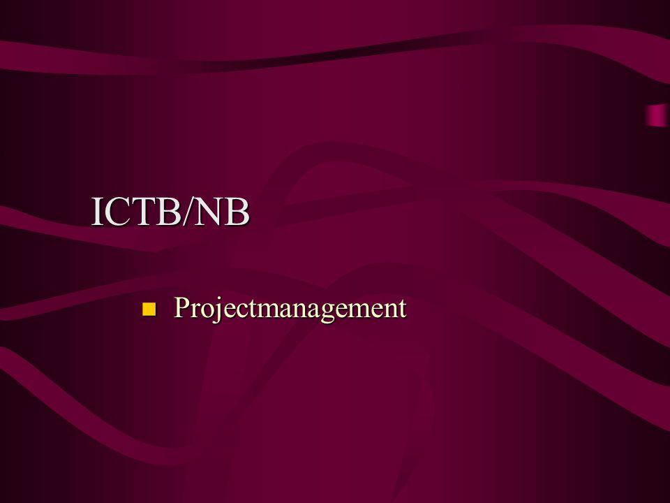 ICTB/NB Projectmanagement Projectmanagement