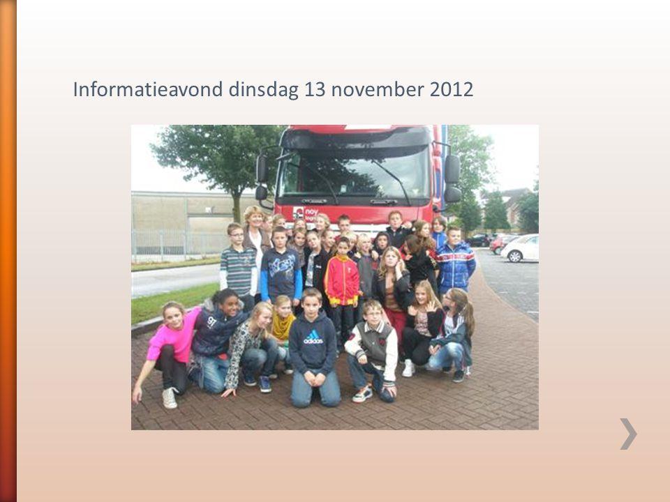 Informatieavond dinsdag 13 november 2012