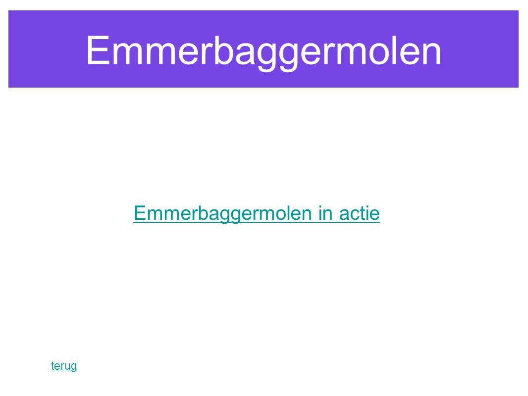 Emmerbaggermolen terug Emmerbaggermolen in actie