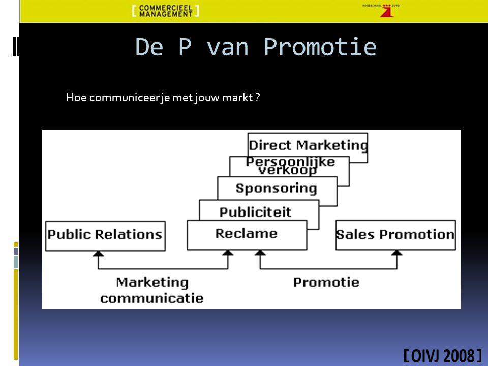 De P van Promotie Hoe communiceer je met jouw markt ?