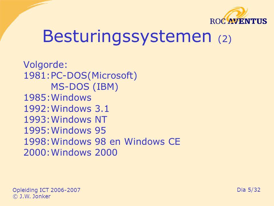Opleiding ICT 2006-2007 © J.W.