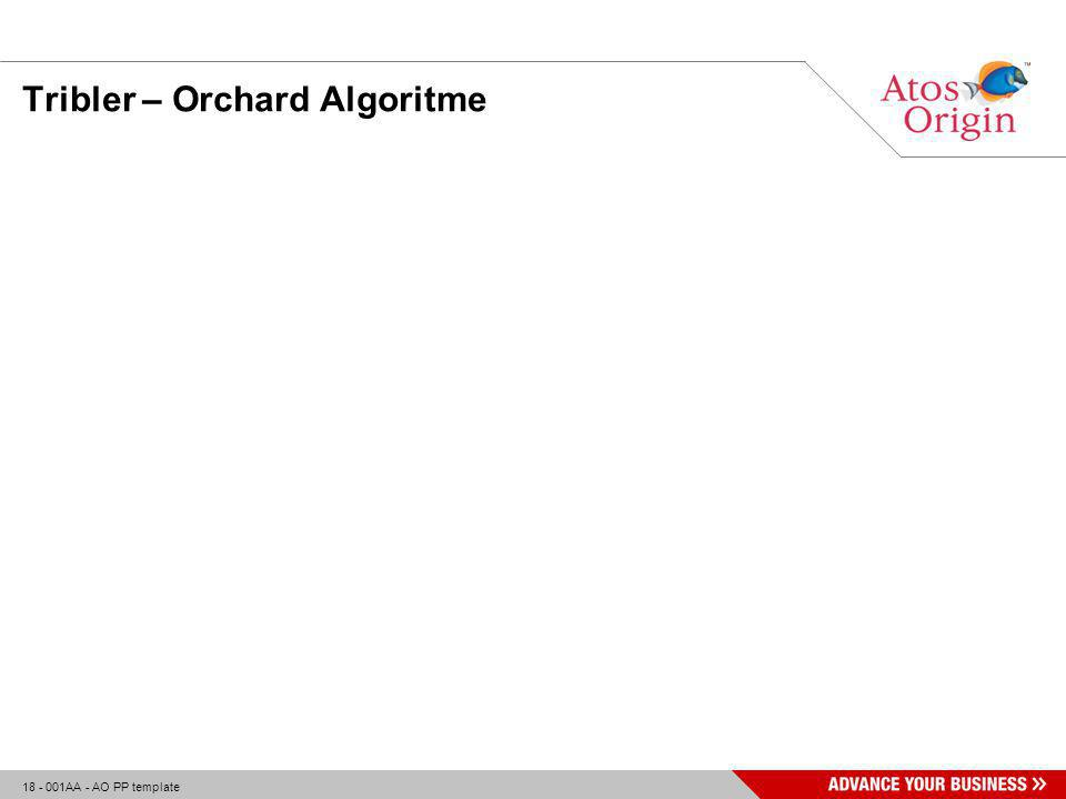 18 - 001AA - AO PP template Tribler – Orchard Algoritme