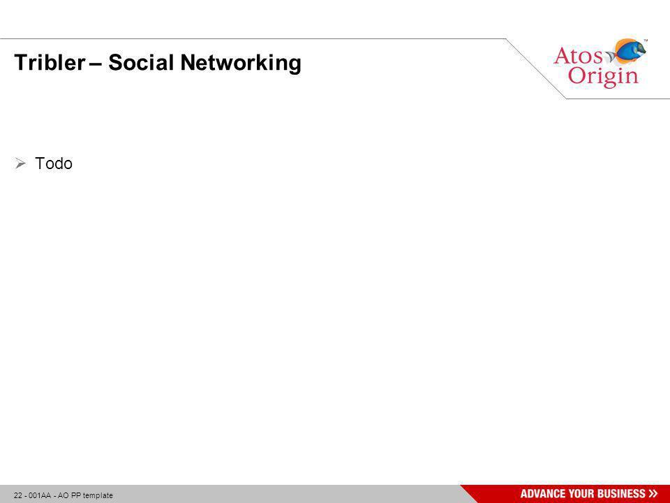 22 - 001AA - AO PP template Tribler – Social Networking  Todo